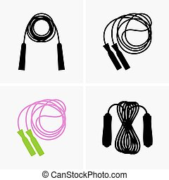 Skipping ropes - Set of four skipping ropes