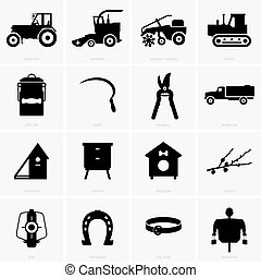 Farm objects - Set of farm objects, shade pictures