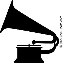 Gramophone, shade picture