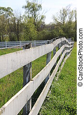 Fence Vantage Point - Fence in the country forms an...