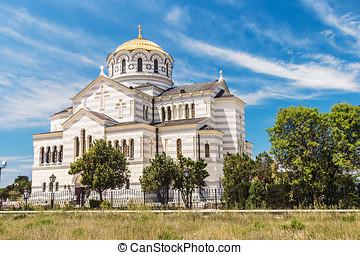 Vladimir Cathedral in Tauric Chersonesos, Sevastopol city,...
