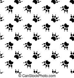 Traces of cat Textile Pattern. Vector seamless.eps 10.