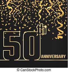 Anniversary Outline gold A