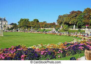 Luxembourg Garden in Paris.