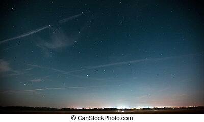 night star timelapse