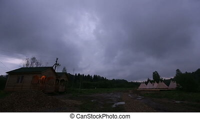 camping dramatic sky on summer - camping dramatic sky storm...