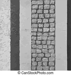Narrow pavement road vector texture