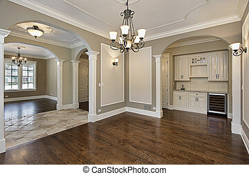 Dining room with butlers pantry - Dining room in new...