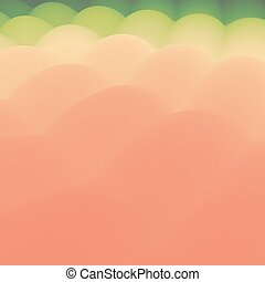Wavy Background. 3d Abstract Vector Illustration.