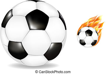 Two Soccerballs - Soccerball And Burning Soccerball,...
