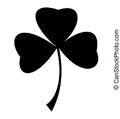 three leaf clover - Leprechaun three leaf clover silhouette
