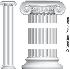 Column Pillar - An illustration of a classic Greek or Roman...