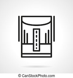 Humidifier line black line vector icon - Home climate...