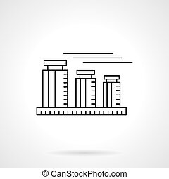Calibration weights flat thin line vector icon - Abstract...