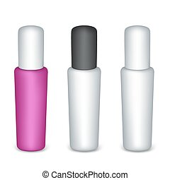 Set of bottles on a White Background Ready for Your Design...
