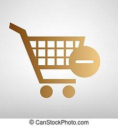 Vector, shoppen, kar, verwijderen, pictogram