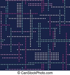 Abstract vector seamless techno pattern