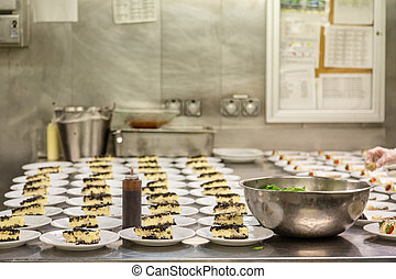 Pies and Pastries in Commercial Kitchen - Dessert...