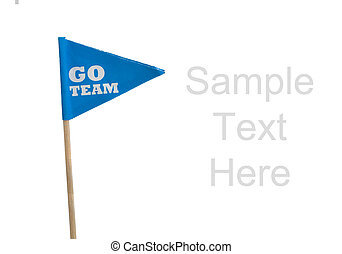 Sport pennants on a white background - Blue Go Team sports...