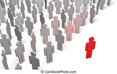 Conference (symbolic figures of people) - Standing Out from...