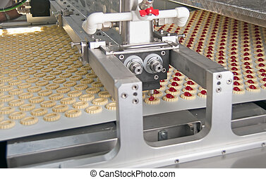 production cookies inside of factory - automatic production...