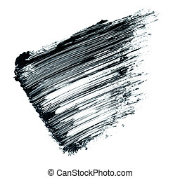 mascara smear - black mascara smear isolated on white...