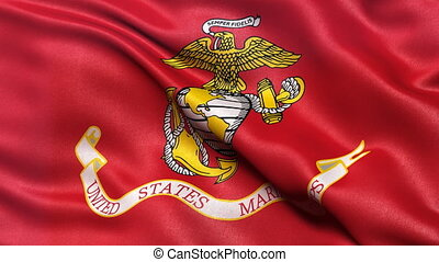 USA Marine Corps flag seamless loop - United States of...