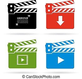 Video clapper icon