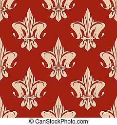 Beige and maroon royal floral pattern