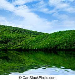 Summer Landscape Background - Summer landscape scenery...