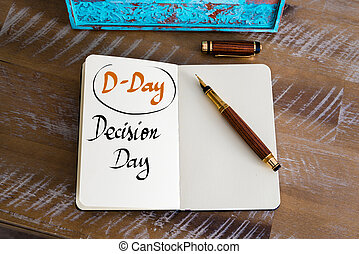 Business Acronym D-DAY as Decision Day - Retro effect and...