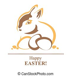 easter rabbit silhouette
