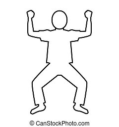 pictogram of Cheerful pose (T-shirt)