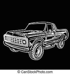 car truck 4x4 pickup off-road - Vector illustration car...