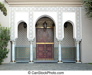 Banque de photographies de islamique moderne porte for Architecture islamique moderne