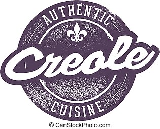 Authentic Creole Cooking - Vintage style creole/cajun...