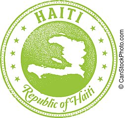 Haiti Country Stamp - Vintage style stamp featuring the...