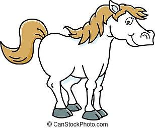 Cartoon happy horse.