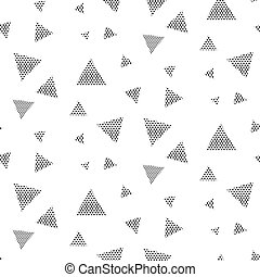 Triangle dotted geometric pattern - Triangle dotted...
