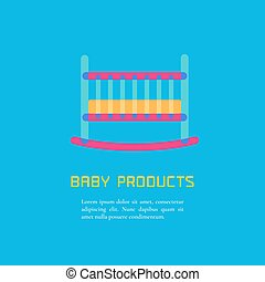 VEctor Illustration of cot - Illustration of cot made in...