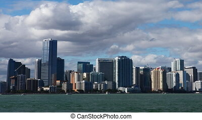 Miami, Florida skyline, a timelapse - Miami, Florida skyline...