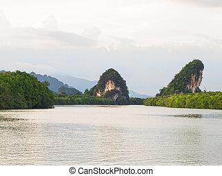 Kanaab Nam Cliff, Krabi Town, Thailand - Krabi landmark...