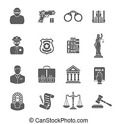 Crime and Punishment Icons - Set Crime and Punishment Icons...