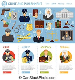 Crime and Punishment Concept - Crime and Punishment Vector...