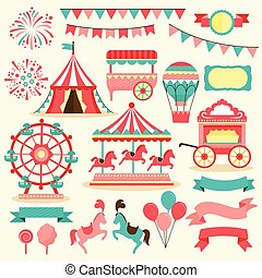 carnival elements - collection of elements related to...