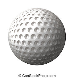 golf ball - a great 3d rendered golf ball isolated on white...