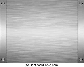 brushed metal - sheet of rendered brushed steel or metal