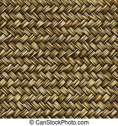 woven wood or bamboo