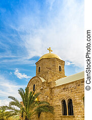Greek Orthodox St.John the Baptist Church in baptism site on...