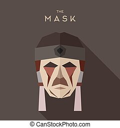 Mask goodies flat style abstraction vector graphics art...
